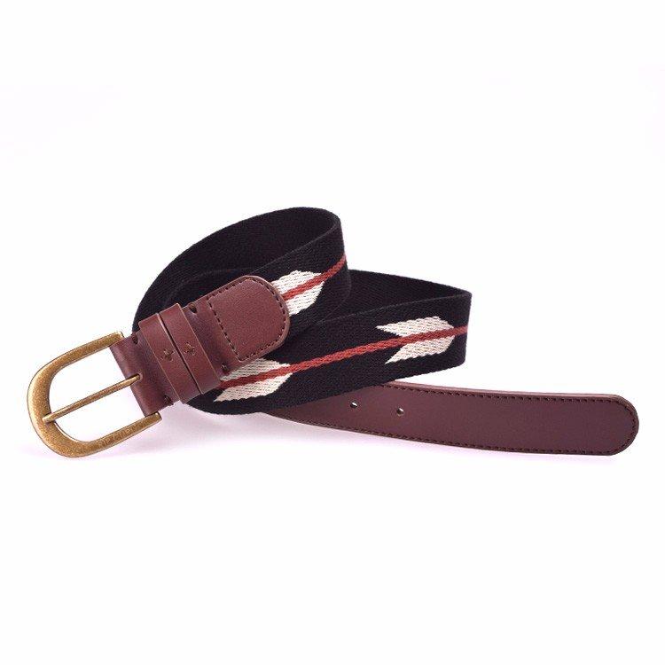 Yusen - Canvas Belts - Cotton - Jacquard Logo - Pin Buckle