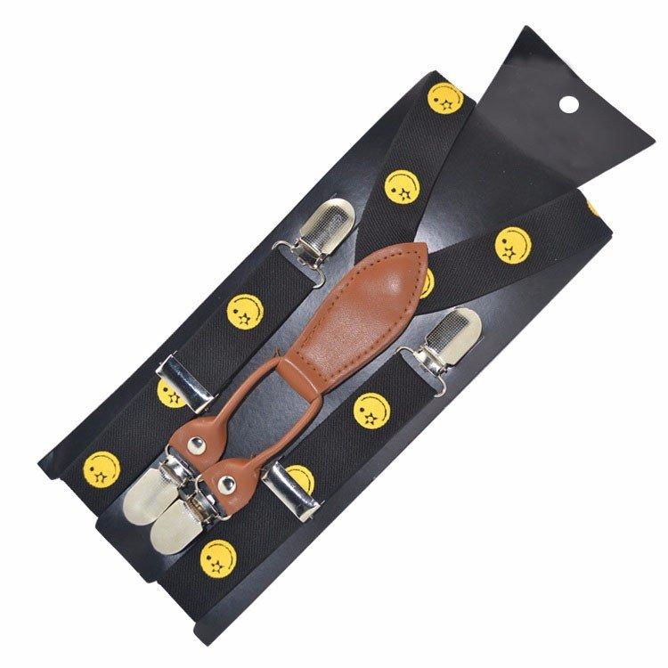 Yusen-Suspenders Solid Black-Adjustable Braces Formal NEW