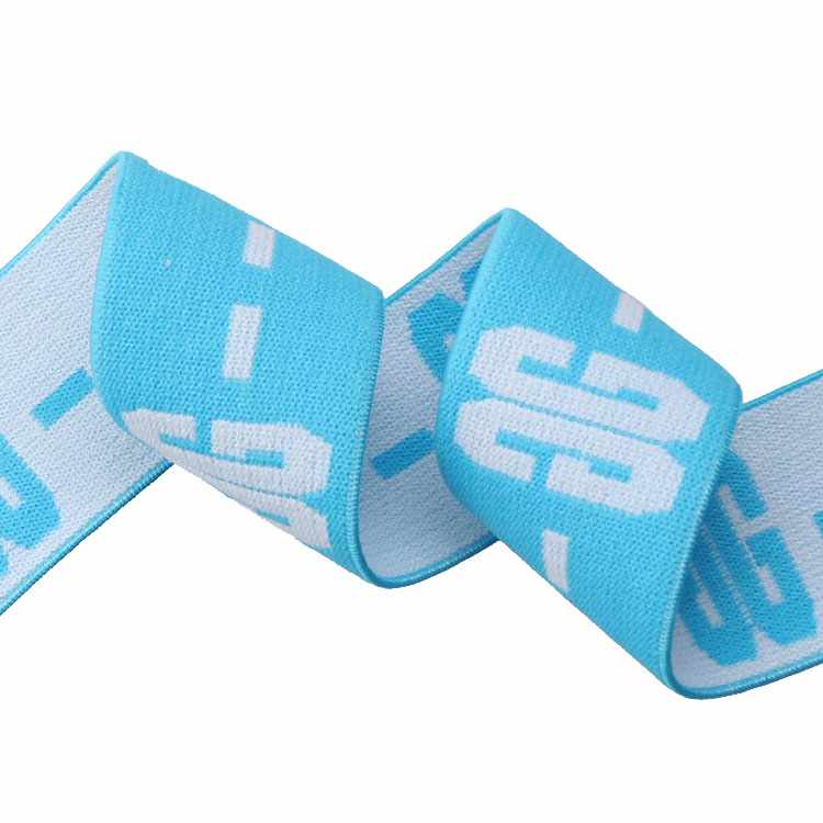 Yusen-Jacquard Elastic Band with White Custom Logo