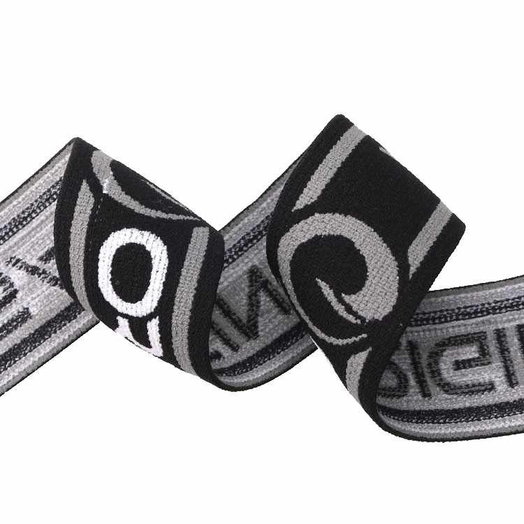 Yusen-2.Jacquard Three color Elastic Band with Custom logo