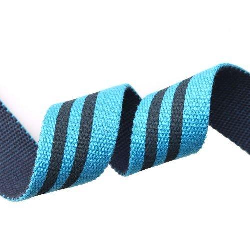 Yusen-Spun Polyester Webbing-Striped-Navy/Black