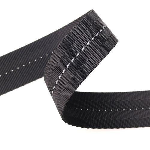 Yusen-Hops Webbing-Nylon-Solid Black Color With Reflective