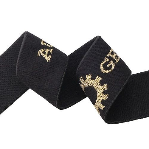 Yusen-Jacquard Elastic Band with Blue Custom Logo