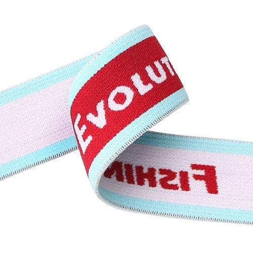 Yusen-Jacquard Hit Color Elastic Band with White Logo
