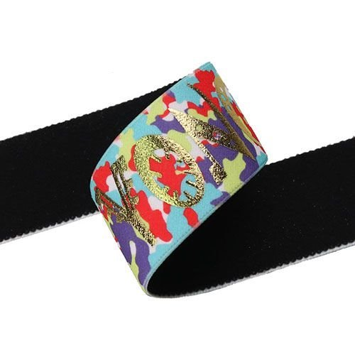 Yusen-One Side Heat Transfer Printed Elastic Band-Nylon+Polyester and Spandex
