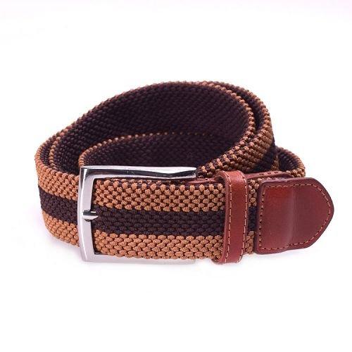 Yusen-Pearl Roundel  Woven Elastic  Belt - Pin Buckle