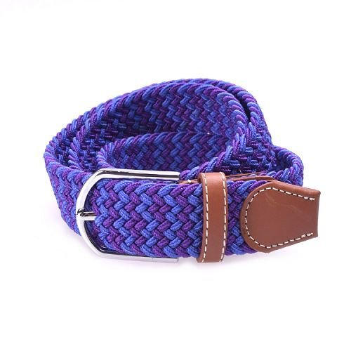 Yusen -Lady Elastic Belts with Leather Tab - Pin Buckle