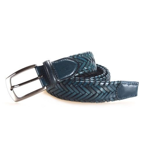 Yusen-Braided Leather Belts-Custom Buckle