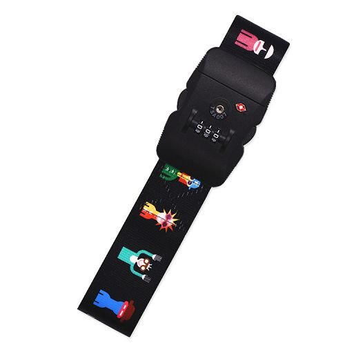 Yusen - Luggage Strap - Polyester - Heat Transfer Printing-Customs password lock
