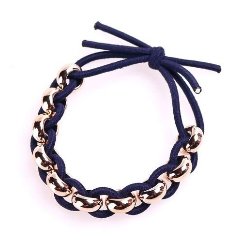 Yusen - Elastic Hair Bands With Beads