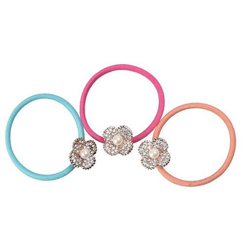 Yusen - Shape of Pearl Flower Elastic Hair Bands