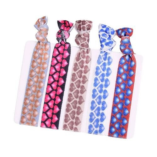 Yusen-Customized Logo Elastic Hair Ties-Heat Transfer Printed