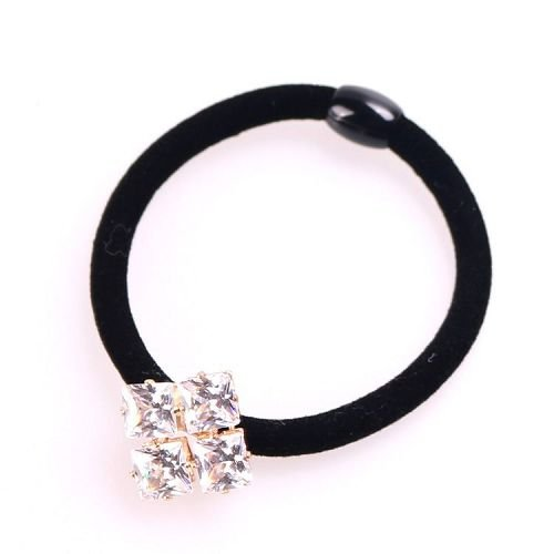 Yusen - Velvet Elastic Hair Band With Crystal - Customized Design