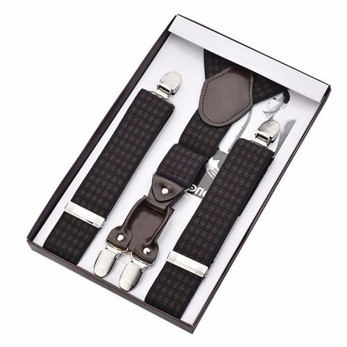 Yusen-Adjustable Suspenders-Bow Tie Set Men Suspender Heavy