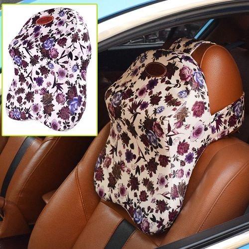 Yusen - Car Neck Pillow - PU Cover + Memory Foam - Black Color