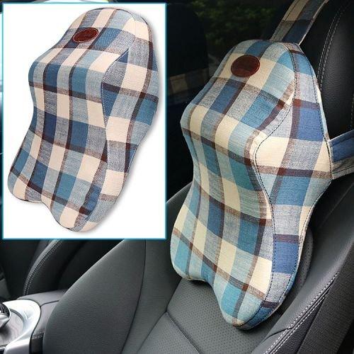 Yusen - Car Neck Pillow - Ramie Cover + Memory Foam