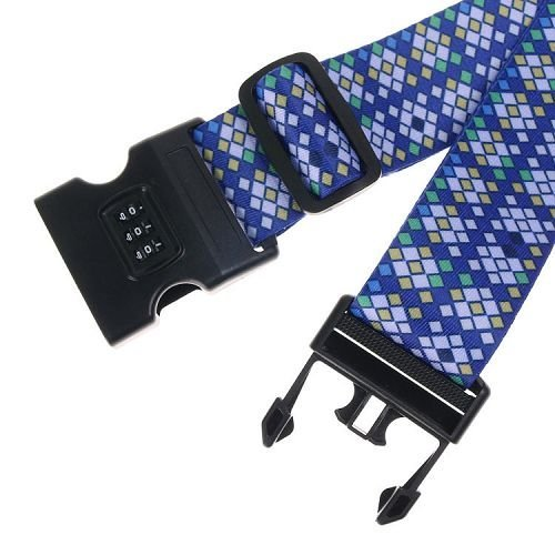 Yusen - Luggage Strap - Polyester -Customize Heat Transfer Printing-Code lock buckle