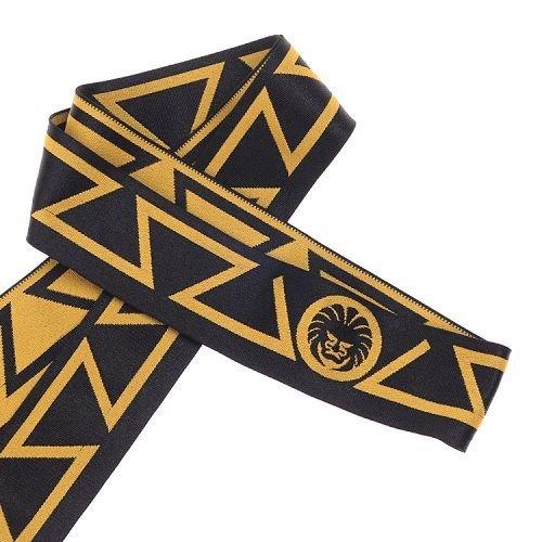 Yusen- Black/Yellow Jacquard Elastic Band with Custom Logo