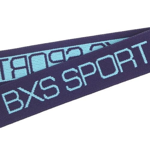 Yusen- Navy/blue Jacquard Elastic Band with Custom Logo