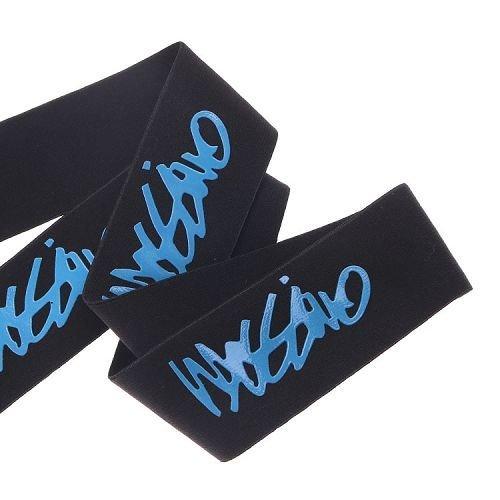 Yusen- Black/Blue Silicone Printed Elastic Band-Custom Logo