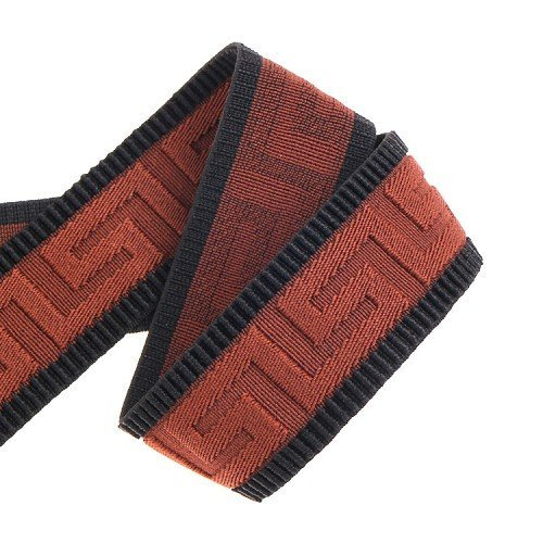 Yusen- Polyester Elastic Band With Brown Shape Inset