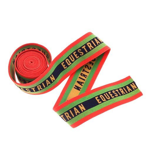 Yusen- Four-Color Striped Plus letter Nylon Jacquard Elastic Band