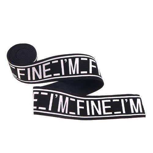 Yusen-Black Nylon Loose Band Printed White Letters