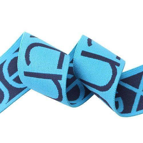 Yusen-Blue/navy Jacquard Elastic Band for Underwear
