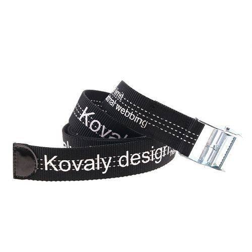 Yusen - Black and White Nylon Belt - Silk Screening - Fashion - SliderN