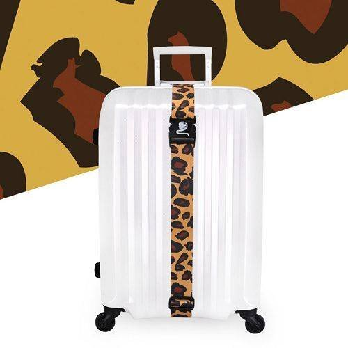 Yusen - Luggage Strap - Polyester - Leopard Heat Transfer Printing-Ordinary buckle silk screen