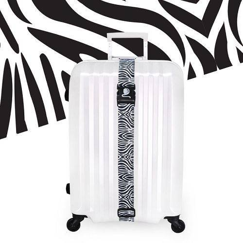 Yusen - Luggage Strap - Polyester -Zebra Pattern Heat Transfer Printing-Ordinary buckle silk screen