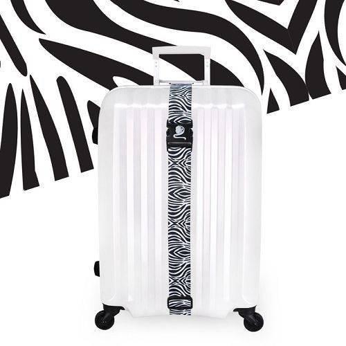 Yusen - Luggage Strap - Polyester -Zebra Pattern Heat Transfer Printing-Ordinary buckle silk screen