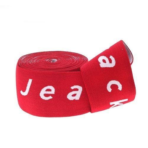 Yusen-Red/white Jacquard Muticolor Elastic Band with Custom Logo