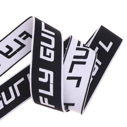 Yusen-Black/white Jacquard Elastic Band-Nylon/spandex