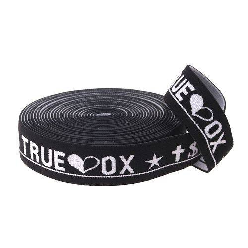 Yusen- Black/white Jacquard Elastic Band for Underwear