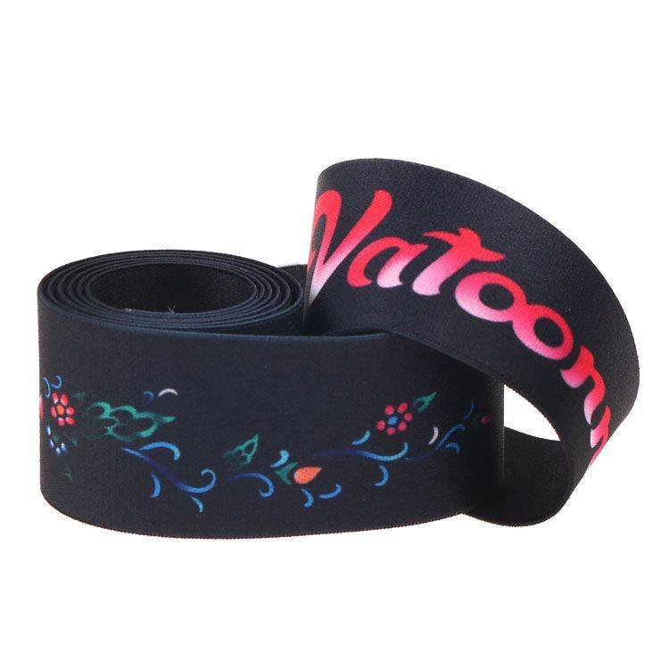 Yusen-Dual Side Heat Transfer Printed Elastic Band-Polyester With Custom Logo