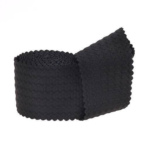 Yusen-Polyester Elastic Band - Black Corrugated
