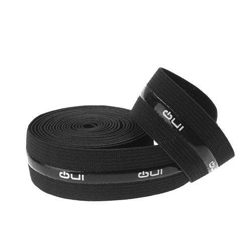 Yusen-Silicone Printed Elastic Band-Black Color with White Logo