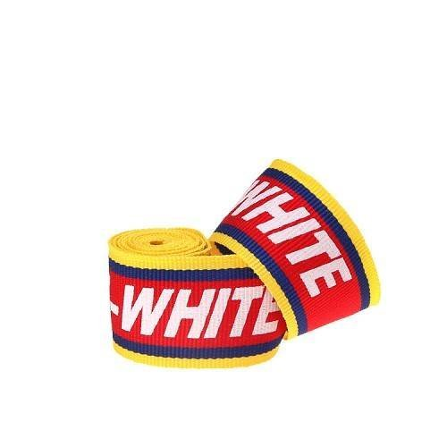 Yusen- Red and Yellow Two-tone Polyester Ribbon Silk Screen White Letters