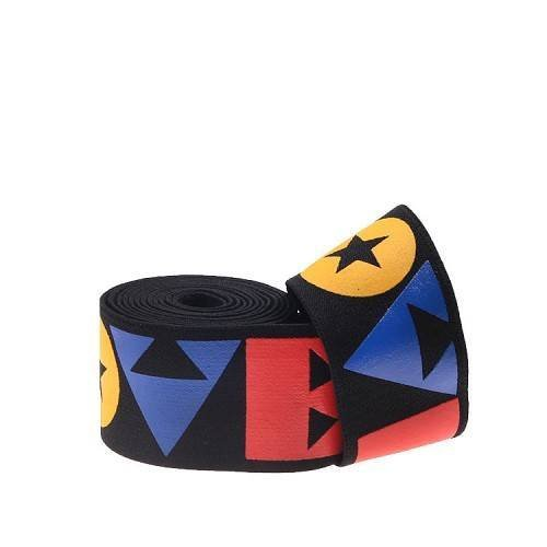 Yusen-Multicolor Silk-Printed Letters Elastic Band