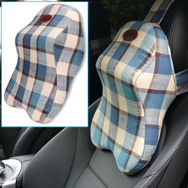 Yusen - Car Neck Pillow - Ramie Cover + Memory Foam